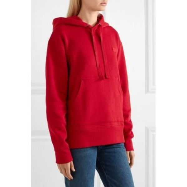 Acne Ferris Face Hooded red フェイス付リラックスパーカー