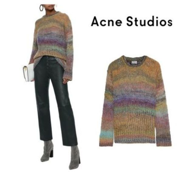 Acne Studios☆Degrade brushed open-knit sweater