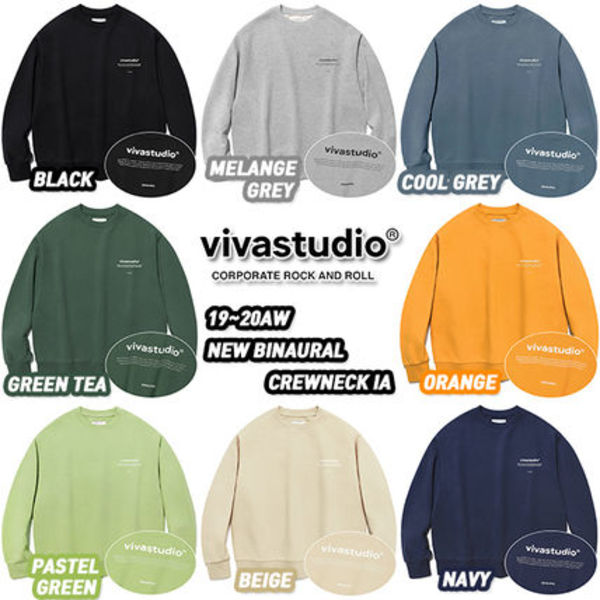 ★VivaStudio★19-20AW NEW BINAURAL CREWNECK IA(全8色)