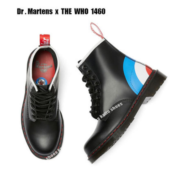 Dr Martens x THE WHO 1460 BLACK SMOOTH★ロゴ★コラボ
