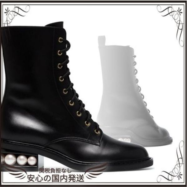 関税込◆Black Casati Pearl 35 lace up boots