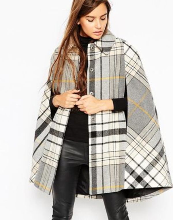 ☆日本未入荷☆ASOS☆ Cape in Heritage Check ☆関送込