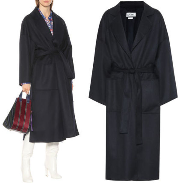 LW013 WOOL CASHMERE BELTED COAT