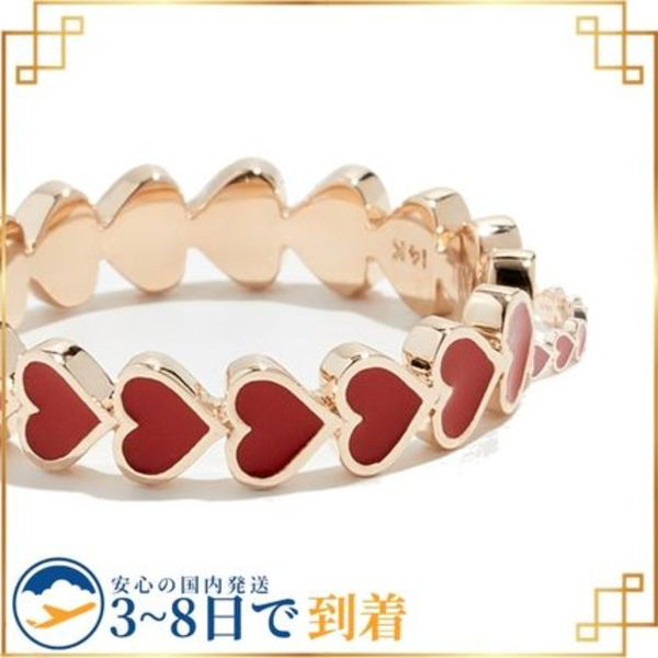 関税込◆14k Heart Stack Ring