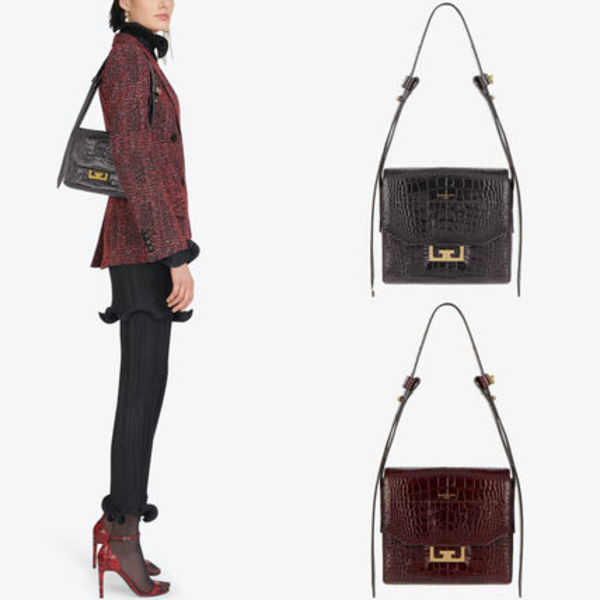 G580 SMALL EDEN BAG IN CROCODILE-EFFECT LEATHER