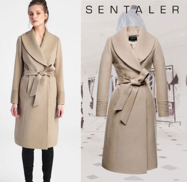 メーガン妃愛用**SENTALER**Long Shawl Collar Wrap Coat