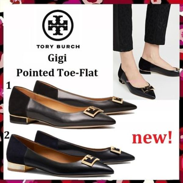 セール 新作 Tory Burch Gigi 20MM Pointed Toe Flat