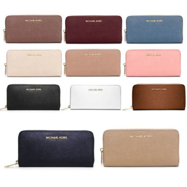 国内発送 Jet Set Travel Saffiano Leather Continental Wallet