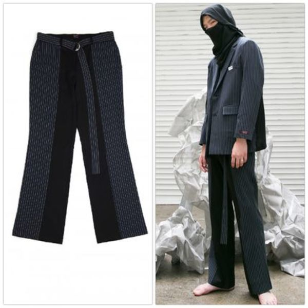 日本未入荷 [ANOTHERYOUTH] half stripe slacks