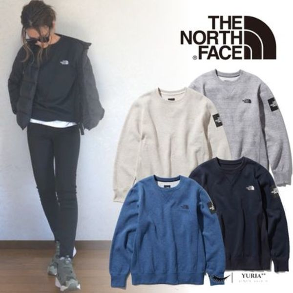 【THE NORTH FACE】Square Logo Crew 裏起毛