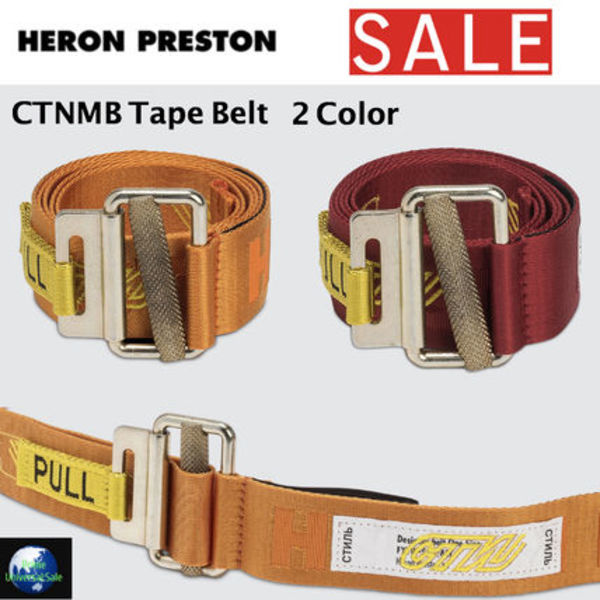 【SALE】Heron Preston *CTNMB Tape Belt *ベルト *2カラー