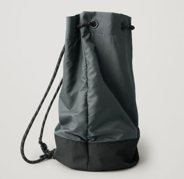 """COS MEN"" DRAWSTRING DUFFLE BAG GREEN/BLACK"