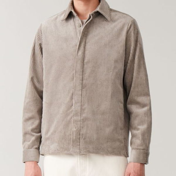 """COS MEN""  COTTON CORDUROY SHIRT BEIGE"