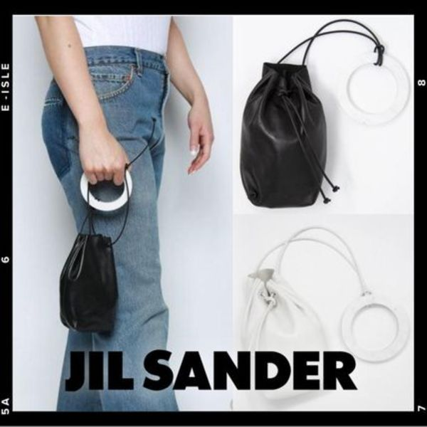 【JILL SANDER】Drawstring Leather Mini Pouch Bag