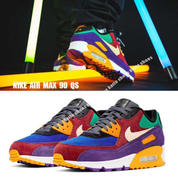 NIKE★AIR MAX 90 QS★UNIVERSITY RED/PALE VANILLA/HYPER GRAPE
