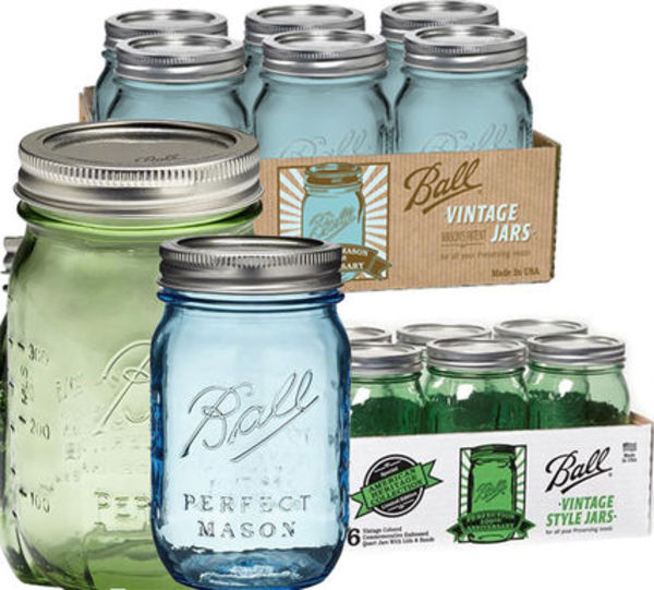 人気Ball  Mason Jar Heritage限定カラー Green/Blue 6個SET