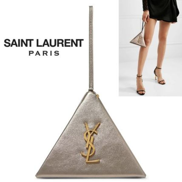 ∞∞ Saint Laurent ∞∞ Pyramid レザーポーチ☆
