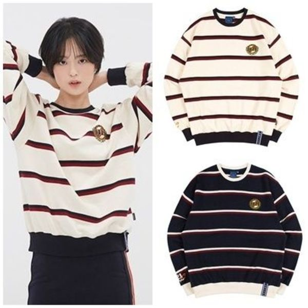 日本未入荷ROMANTIC CROWNの21C BOYS STRIPED SWEATSHIRT 全2色