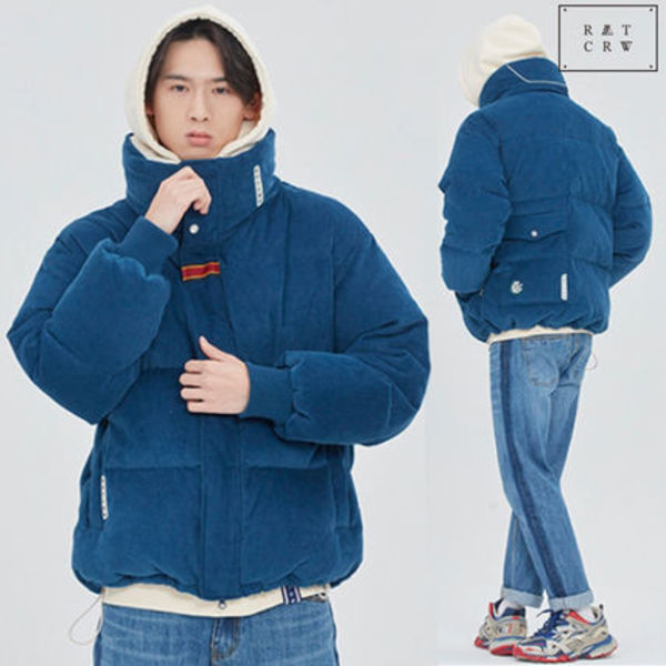 ROMANTIC CROWN ★  INUIT CORDUROY DOWN PARKA_BLUE