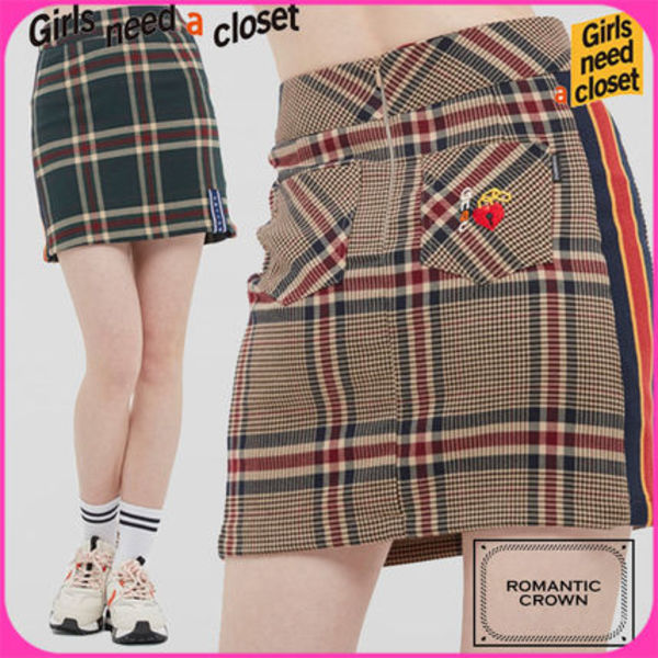 【ROMANTIC CROWN】OLD CHECK SKIRT/大ヒット商品