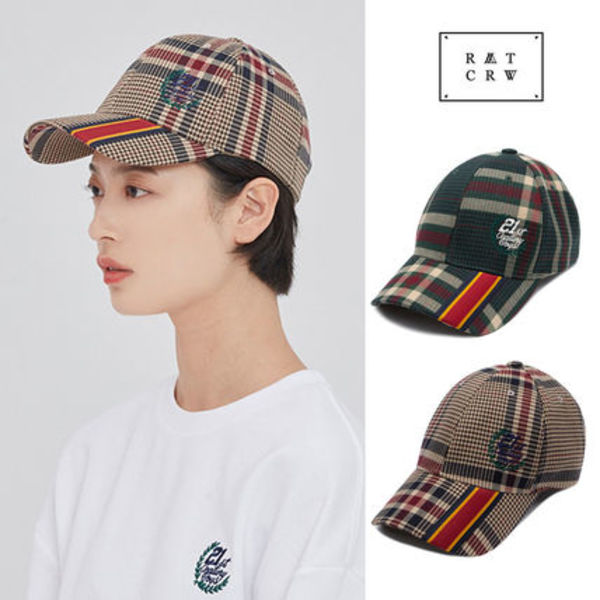 ROMANTIC CROWN★ユニセックス OLD CHECK BALL CAP 2カラー