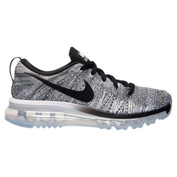 NIKE WOMEN'S FLYKNIT AIR MAX WHITE BLACK SZ6-11 送料無料
