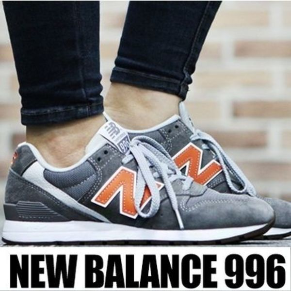 レディース NEW BALANCE MRL996 GREY/ORANGE