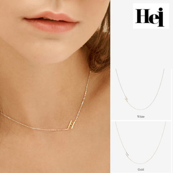 Hei・ヘイ initial combi necklace Hイニシャルコンビネックレス