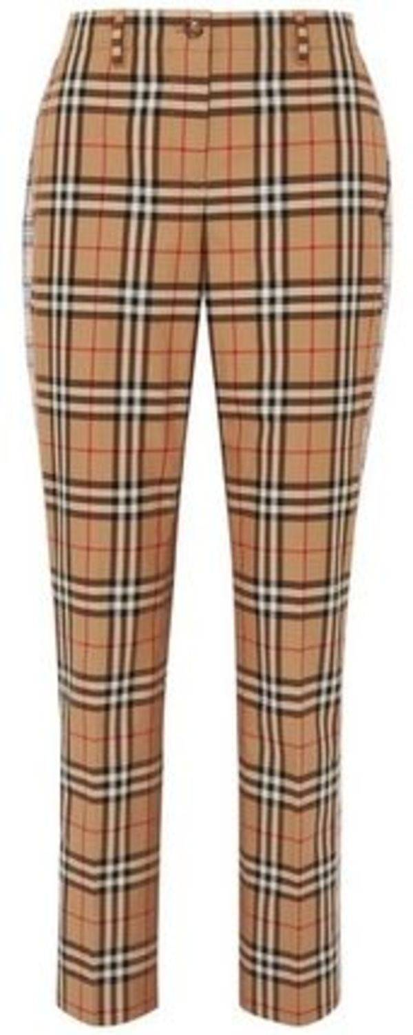 ★関税負担★BURBERRY★CHECKED STRAIGHT-LEG PANTS