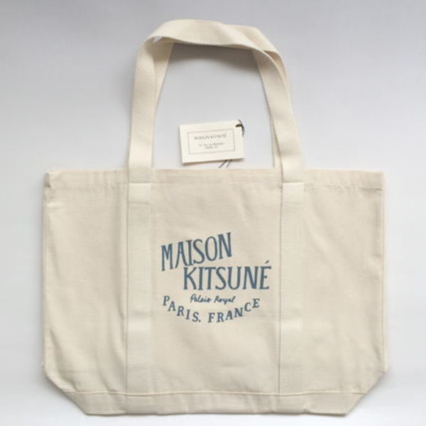 【国内在庫有り】Maison Kitsune Palais Royal Tote Bag / Blue