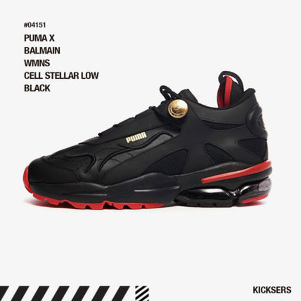 人気話題コラボ!PUMA X BALMAIN WMNS CELL STELLAR LOW BLACK