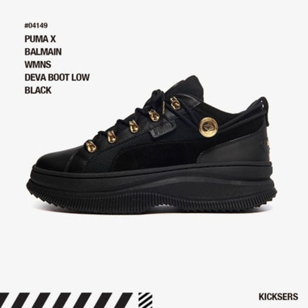 人気話題コラボ! PUMA X BALMAIN WMNS DEVA BOOT LOW BLACK
