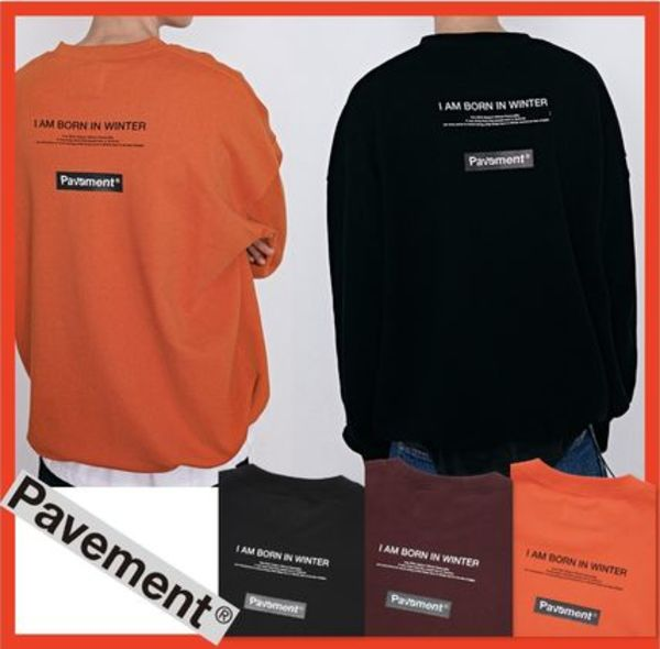 ★韓国の人気★【PAVEMENT】★BOX LOGO CREWNECK IA★3色★