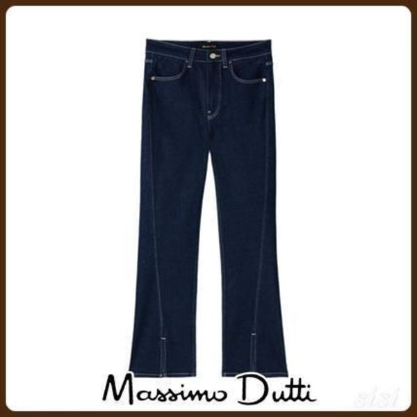 MassimoDutti♪HIGH-RISE FLARED SLIT JEANS