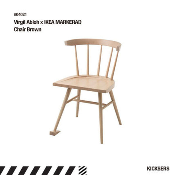 人気話題!Virgil Abloh x IKEA MARKERAD Chair Brown