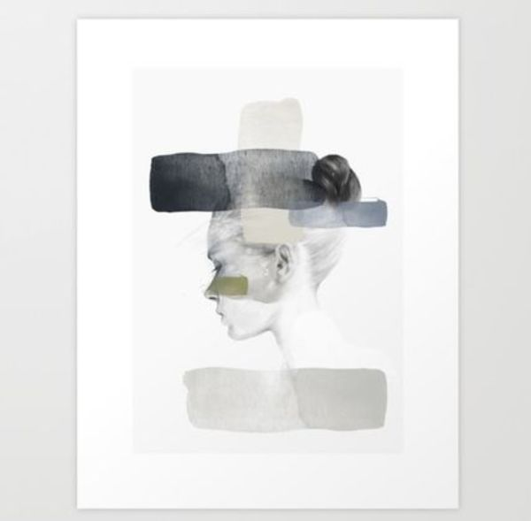 ☆Society 6 ☆モノトーンポスターInside out(43×53)