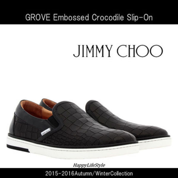 15-16AW★GROVE Embossed CrocodileスニーカーBlack★Jimmy Choo