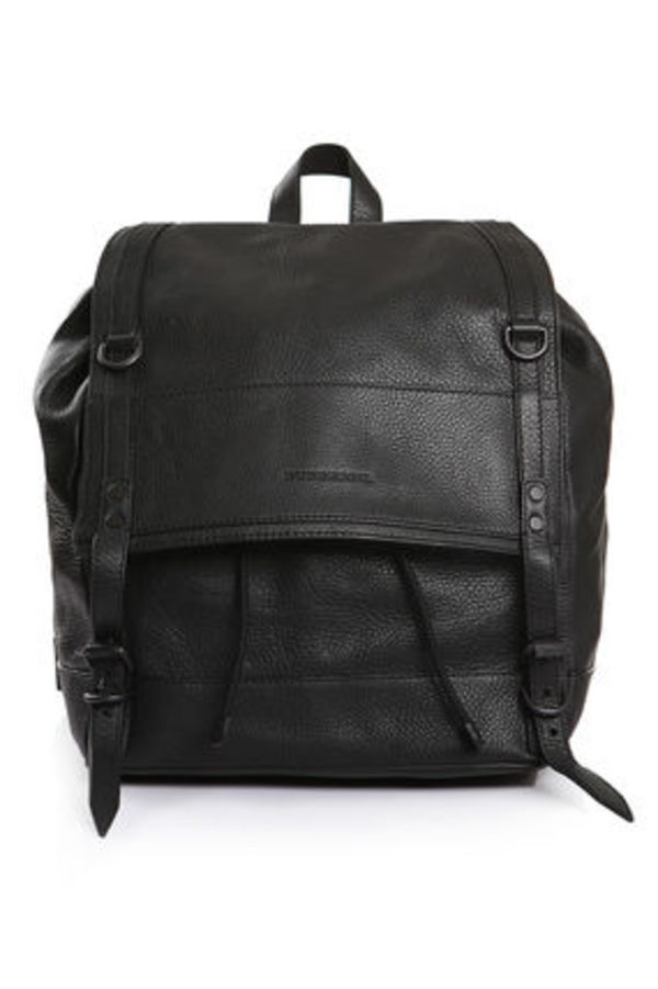 【Burberry】 バーバリー LEATHER BACKPACK バックパック 黒