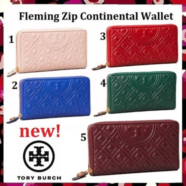 セール 新作 Tory Burch Fleming Zip Continental Wallet 長財布