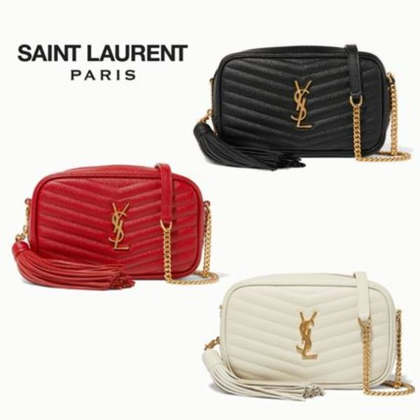 ∞∞ Saint Laurent ∞∞ Lou mini quilted leather バッグ☆