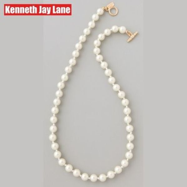 Kenneth Jay Lane★Glass Pearl Necklace★パールネックレス