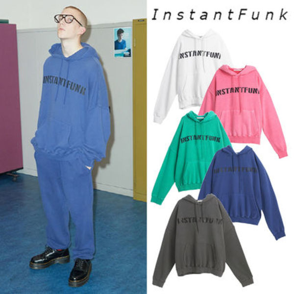 [INSTANTFUNK] PIGMENT DYING HOOD 5COLOR_X1_TWICE パーカー フード