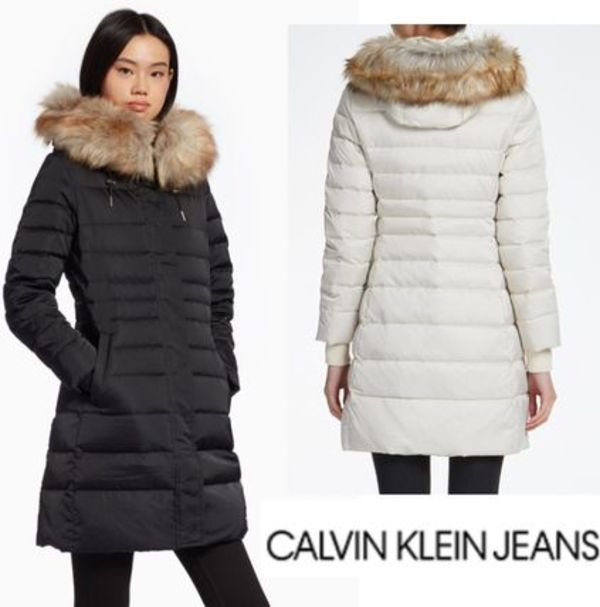CALVIN KLEIN JEANS MID LENGTH DOWN JACKET 2カラー 18-19AW