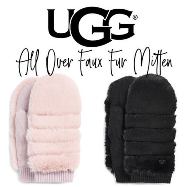 【UGG】ALL OVER FAUX FUR MITTEN