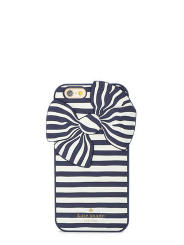 【国内発送】 kate spade★ 新作!Bow Stripe iPhone6/6S Case