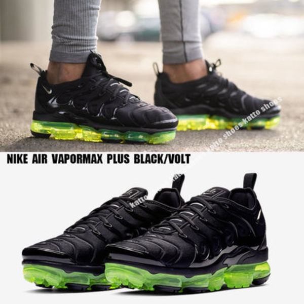 NIKE★AIR VAPORMAX PLUS★BLACK/VOLT