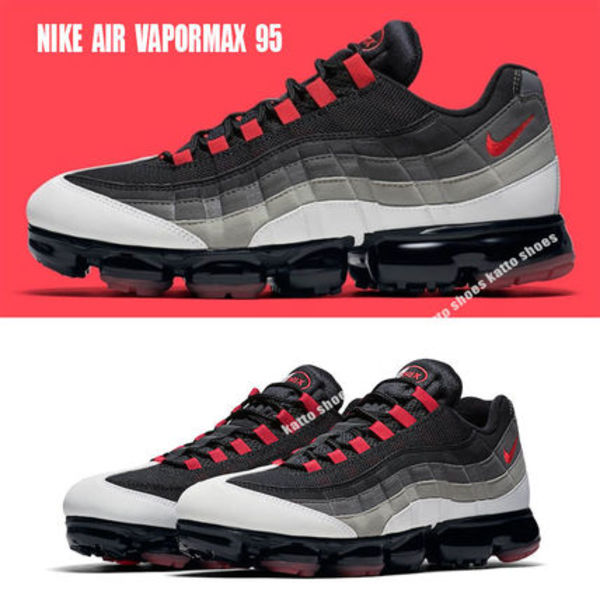 NIKE★AIR VAPORMAX 95★WHITE/HOT RED/DARK PEWTER