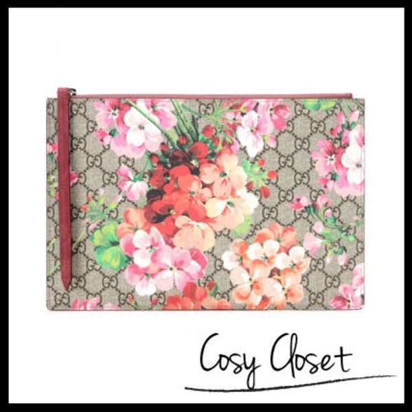 GUCCI★GG Blooms printed clutch