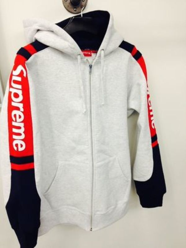 15FW 即発 追尾/関税込み☆Supreme Hooded track zip up