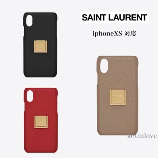 新作!SAINT LAURENT☆IPHONE XS 携帯ケース